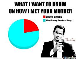 How I Met Your Mother Memes - how i met your mother pie chart met himym and memes