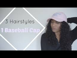baseball hair styles 3 hairstyles for a baseball cap annecia rose youtube