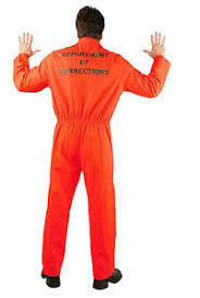 prison jumpsuit costume orange prison jumpsuit charades mens convict costume ebay