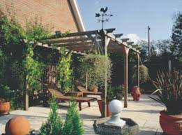 pergolas are ideal for climbing plants to grow up and around