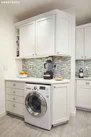 laundry in kitchen ideas inspiring kitchen ideas washing machine cupboard counter