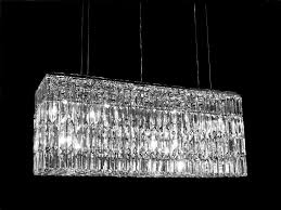 crystal dining room lighting contemporary chandelier inspirations rectangular crystal