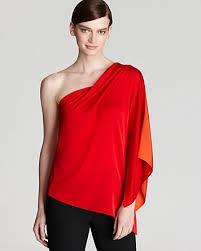 one shoulder blouse lyst elie tahari sandrine one shoulder blouse in
