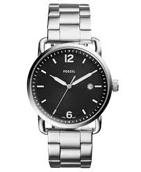 bracelet fossil steel images Fossil men 39 s commuter stainless steel bracelet watch 42mm tif