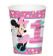 minnie mouse 1st birthday disney minnie mouse 1st birthday 9oz paper cups 8