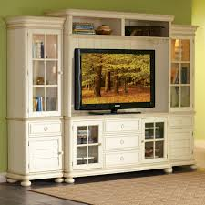 White Tv Cabinet With Doors Charming White Entertainment Cabinet Center With Green Wall Color