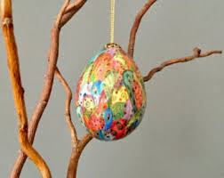 Easter Tree Decorations Australia by Egg Ornament Etsy
