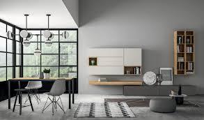 Wohnzimmer Design Holz Moderner Wohnzimmer Wohnwand Lackiertes Holz Slim Dall