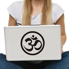 dctop om aum symbol hindu yoga computer sticker for bike laptop
