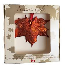 maple leaf ornament iridescent made in canada gifts