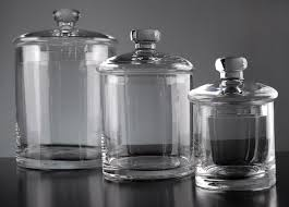clear kitchen canisters set of 3 clear glass apothecary canister jars 5 7 9 glass