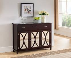 amazon com kings brand furniture buffet server cabinet console
