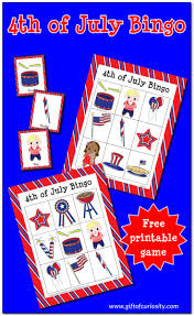 Free Printable Halloween Bingo Cards With Pictures Free Printable 4th Of July Bingo Game Gift Of Curiosity