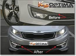 2013 kia optima lights k5 optima store hybrid led drl s or daytime running lights oem