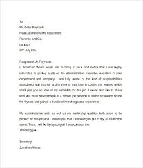 sample of cover letter for administrative assistantadministrative