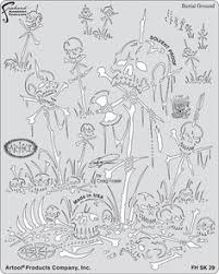 return of skull master frontal ii template stencils pinterest
