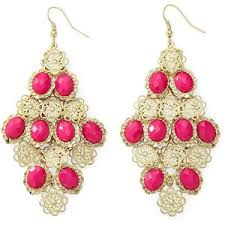 Colorful Chandelier Earrings Color Craze Pink Chandelier Earrings Gold Fuch Polyvore
