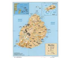 Highly Detailed River Map Of by Maps Of Mauritius Detailed Map Of Mauritius In English Tourist