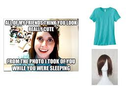 The Overly Attached Girlfriend Meme - overly attached girlfriend meme costumes 2012 popsugar tech