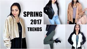 spring 2017 fashion trends ideas youtube