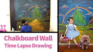 time lapse wizard of oz chalkboard wall drawing youtube time lapse wizard of oz chalkboard wall drawing