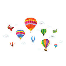 air balloon wall sticker home decor accessories pvc