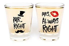 wedding gift glasses wedding gifts mr right and mrs always right