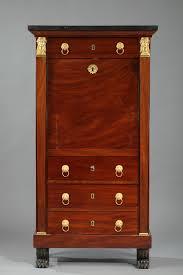 Folding Secretary Desk by Mahogany Secretary Desk Empire Period