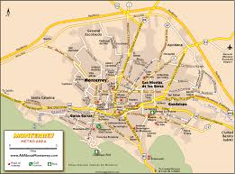 mexico on map monterrey maps maps of monterrey mexico