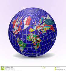 globe flags globe with world map stock photos image 15999973