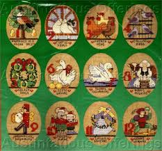 12 days of cross stitch ornaments rainforest islands ferry