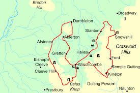England On The Map by Winchcombe Way Walking Holidays And Hiking Tours In England