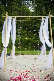 wedding arch used paper cranes on the wedding arch i used cranes i made starting