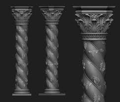 column 3d models cgtrader