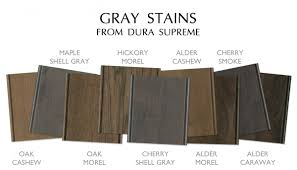 Grey Stained Kitchen Cabinets Gray Cabinetry Trend Dura Supreme Gray Stained And Painted