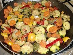 cuisiner brocolis a la poele recette de poelée de légumes du soleil