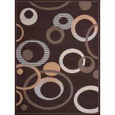 Chocolate Area Rug Westfield Home Montclaire Contemporary Abstract Circles Chocolate