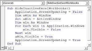 hide inactive workbooks through vba microsoft excel tips from