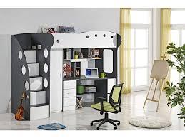 lit mezzanine 1 place avec bureau conforama lit mezzanine 90x190 cm coloris blanc gris vente de lit