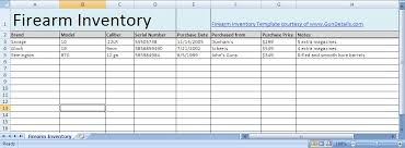 Free Inventory Spreadsheet Template Excel Free Gun Inventory Spreadsheet Gun Details
