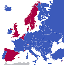 European Continent Map by Monarchies In Europe Wikipedia