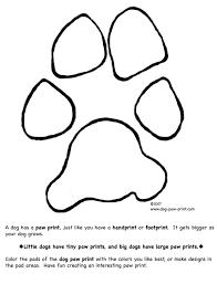 dog paw coloring dog paw print