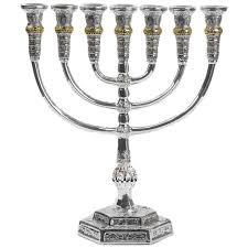 jerusalem menorah silver and gold seven branch menorah jerusalem judaica web store