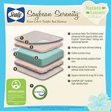 Sealy Foam Crib Mattress Sealy Soybean Serenity Foam Infant Toddler Crib