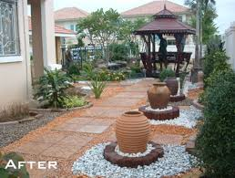 Tropical Rock Garden Forget Grass Why Not Install A Pebble Rock Garden