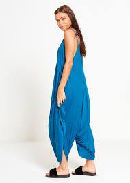 teal jumpsuit rachelmode com draped jumpsuit harem romper playsuits