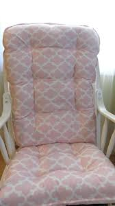 pink and white glider rocker image of white rocking chair for