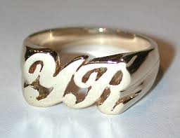rings with initials gem world personalized jewelry