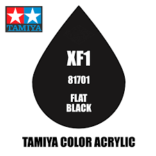 tamiya mini xf 01 flat black 10ml acrylic paint