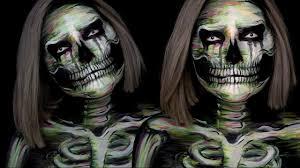 Halloween Skull Makeup Tutorial Watercolor Skull Halloween Makeup Tutorial Youtube
